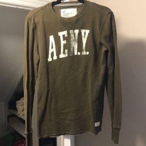 American Eagle Outfitters Olive Green Thermal
